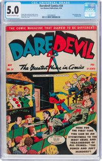 Daredevil Comics #24 (Lev Gleason, 1944) CGC VG/FN 5.0 Cream to off-white pages