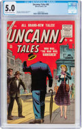 Golden Age (1938-1955):Science Fiction, Uncanny Tales #40 (Atlas, 1956) CGC VG/FN 5.0 Cream to off-white pages....