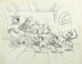 Animation Art:Production Drawing, The Three Little Wolves Publicity Drawing (Walt Disney,1936). ...