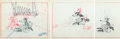 Animation Art:Concept Art, The Three Little Wolves Layout Drawings Group of 3 (WaltDisney, 1936). ... (Total: 3 )