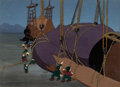 Animation Art:Production Cel, Gulliver's Travels Hoisting Gulliver Production Cel Setupand Key Master Background (Max Fleischer, 1939)....