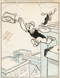 "Animation Art:Production Drawing, Popeye ""Olive's Sweepstakes Ticket"" Publicity Illustration (Max Fleischer, 1941)...."