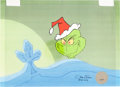 Animation Art:Production Cel, Doctor Seuss' How the Grinch Stole Christmas Production CelSetup (MGM, 1966)....