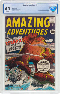 Amazing Adventures #6 (Marvel, 1961) CBCS VG 4.0 White pages