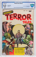 Golden Age (1938-1955):Horror, Beware Terror Tales #1 (Fawcett Publications, 1952) CBCS VG/FN 5.0Off-white to white pages....