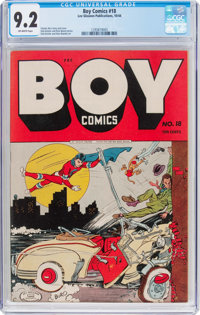 Boy Comics #18 (Lev Gleason, 1944) CGC NM- 9.2 Off-white pages