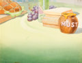 Animation Art:Painted cel background, Beach Picnic Painted Background (Walt Disney, 1939)....