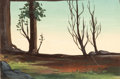 Animation Art:Painted cel background, Song of the South Painted Background Color Key by ThelmaWitmer (Walt Disney, 1946)....