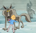 Animation Art:Production Cel, The Lion, the Witch and the Wardrobe Peter and the WolfProduction Cel Setup and Key Master Background (Bill Melendez,...