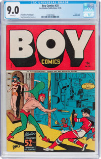 Boy Comics #25 (Lev Gleason, 1945) CGC VF/NM 9.0 White pages