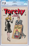 Golden Age (1938-1955):Miscellaneous, Torchy #1 (Quality, 1949) CGC VF- 7.5 Off-white to white pages....