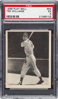 Baseball Cards:Singles (1930-1939), 1939 Play Ball Ted Williams #92 PSA EX 5....