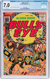 Bulls-Eye #5 (Mainline Publications, 1955) CGC FN/VF 7.0 Off-white pages