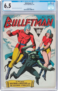 Bulletman #7 (Fawcett Publications, 1942) CGC FN+ 6.5 Off-white pages