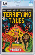Golden Age (1938-1955):Horror, Terrifying Tales #11 (Star Publications, 1953) CGC FN/VF 7.0Off-white pages....