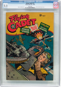 Flying Cadet #17 (Flying Cadet Publishing, 1944) CGC VF 8.0 White pages