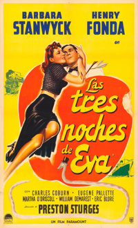 """The Lady Eve (Paramount, 1941). Argentinean One Sheet (29"""" X 43"""")"""