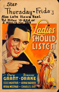 "Movie Posters:Comedy, Ladies Should Listen (Paramount, 1934). Window Card (14"" X 22"")....."
