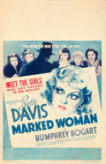 "Movie Posters:Crime, Marked Woman (Warner Brothers, 1937). Window Card (14"" X 22"").. ..."
