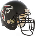 Autographs:Others, Early 2000's Ed Jasper Game Worn Atlanta Falcons Helmet withFalcons Jacket. ...