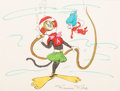 Animation Art:Concept Art, Dr. Seuss' The Cat in the Hat Concept Sketch (DePatie - Freleng, 1971). ...