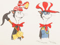 Animation Art:Concept Art, Dr. Seuss' The Cat in the Hat Concept Sketch (DePatie -Freleng, 1971). ...
