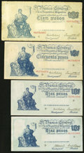 World Currency: , An Argentinian Contingent Featuring Different Signature Varieties..... (Total: 12 notes)