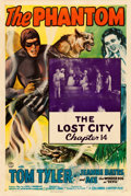 "Movie Posters:Serial, The Phantom (Columbia, 1943). One Sheet (27"" X 41"") Chapter 14 --""The Lost City."". ..."