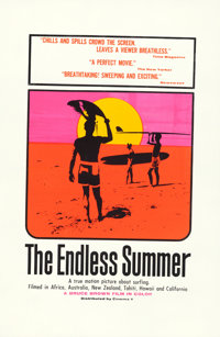 "The Endless Summer (Cinema 5, 1966). Day-Glo Silk Screen One Sheet (27"" X 41"") John Van Hamersveld Artwork..."