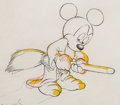 "Animation Art:Production Drawing, Fantasia ""Sorcerer's Apprentice"" Mickey Mouse AnimationDrawing (Walt Disney, 1940). ..."