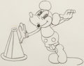 Animation Art:Production Drawing, Around the World in 80 Minutes Mickey Mouse AnimationDrawing (Walt Disney, 1933). ...