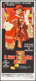 """Movie Posters:Western, For a Few Dollars More (United Artists, 1967). Australian Daybill (13.25"""" X 30""""). Western.. ..."""