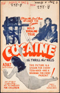 "Movie Posters:Exploitation, Cocaine: The Thrill That Kills (B.I.F.O. Splendid, 1948). Window Card (14"" X 22""). Exploitation.. ..."