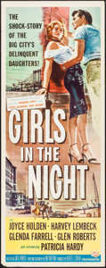"Movie Posters:Crime, Girls in the Night (Universal International, 1953). Insert (14"" X36""). Crime.. ..."