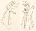 Animation Art:Production Drawing, Sleeping Beauty Briar Rose Animation Drawings Group of 2(Walt Disney, 1959). ... (Total: 2 )