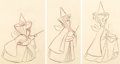 Animation Art:Production Drawing, Sleeping Beauty Three Good Fairies Animation Drawings Groupof 3 (Walt Disney, 1959). ... (Total: 3 )