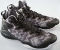 Basketball Collectibles:Others, 2015 Greg Monroe Game Worn Detroit Pistons Sneakers. ...