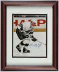 Hockey Collectibles:Photos, Wayne Gretzky Signed Photograph With 1996 Stanley Cup Patch andSigned Puck....