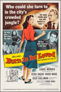"""Born to Be Loved & Others Lot (Universal International, 1959). One Sheets (2) (27"""" X 41""""). Romance..."""