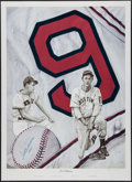 Baseball Collectibles:Others, Ted Williams Signed Lithograph - Lewis Watkins Limited Edition...