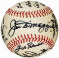 Baseball Collectibles:Balls, Hall of Fame Multi-Signed Baseball With 19 Signatures IncludingDiMaggio, Gehringer and Snider....