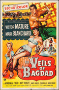 """Movie Posters:Action, The Veils of Bagdad (Universal International, 1953). One Sheet (27""""X 41""""). Action.. ..."""