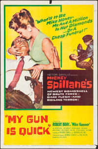 "My Gun is Quick (United Artists, 1957). Folded, Fine/Very Fine. One Sheet (27"" X 41""). Film Noir"