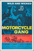 "Movie Posters:Exploitation, Motorcycle Gang (American International, 1957). One Sheet (27"" X41""). Exploitation.. ..."