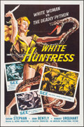 "Movie Posters:Adventure, White Huntress (American International, 1957). One Sheet (27"" X 41""). Adventure.. ..."