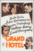 "Movie Posters:Academy Award Winners, Grand Hotel (MGM, R-1962). One Sheet (27"" X 41"") & Lobby Cards(7) (11"" X 14"" ). Academy Award Winners.. ... (Total: 8 Items)"