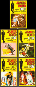 "Movie Posters:James Bond, James Bond Spanish Book Lot (Editorial Bruguera, 1974). FirstEdition Paperback Books (9) (Multiple Pages, 4"" X 7"" .75""). Ja...(Total: 9 Items)"