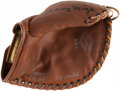 Baseball Collectibles:Others, Johnny Mize Signed Store Model Glove With Original Box. ...