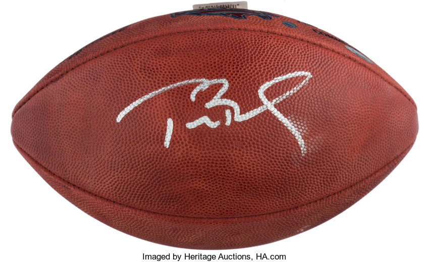Tom Brady Signed Super Bowl XXXVI Football.... Football  13367374b