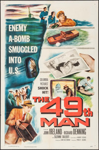 "The 49th Man & Other Lot (Columbia, 1953). One Sheets (2) (27"" X 41""). Thriller. ... (Total: 2 Items)"